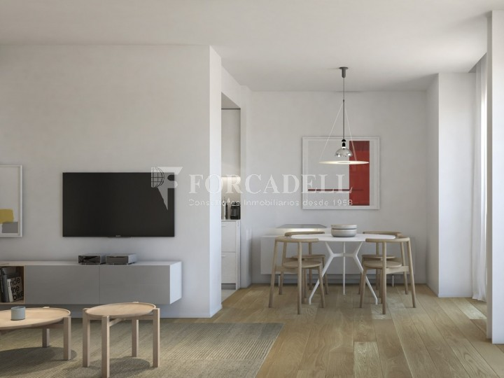 Duplex d'obra nova de 2 habitacions amb jardí al barri de l'Esquerre de l'Eixample de Barcelona.