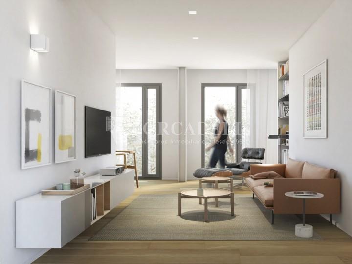Duplex d'obra nova de 2 habitacions amb jardí al barri de l'Esquerre de l'Eixample de Barcelona. 3