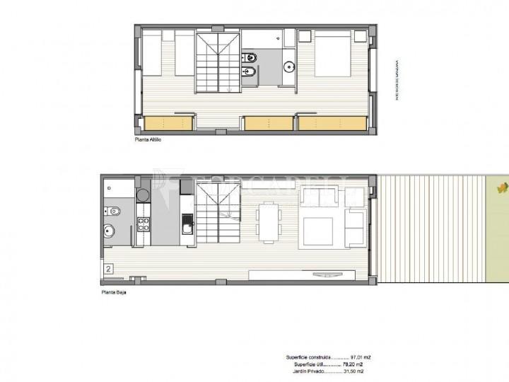 Duplex d'obra nova de 2 habitacions amb jardí al barri de l'Esquerre de l'Eixample de Barcelona. 8