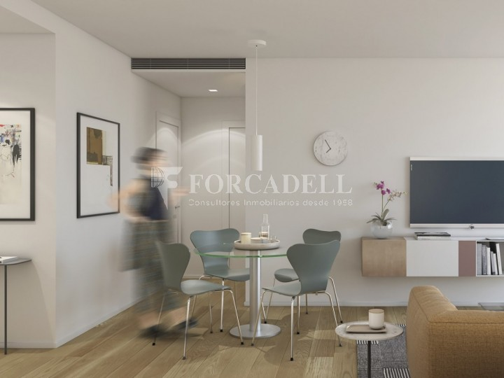 Pis d'obra nova de 71,65 m² al barri de Les Corts de Barcelona