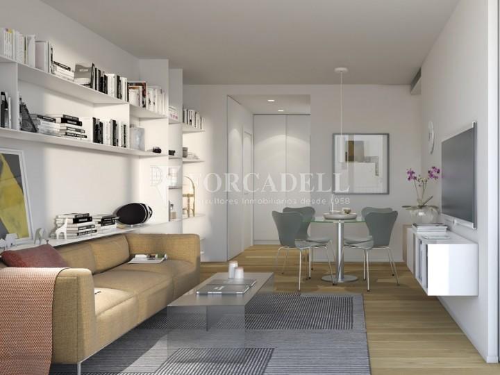 Pis d'obra nova de 71,65 m² al barri de Les Corts de Barcelona 3