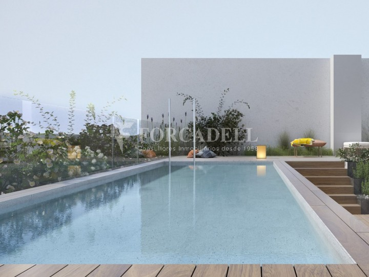 Pis d'obra nova de 71,65 m² al barri de Les Corts de Barcelona 8