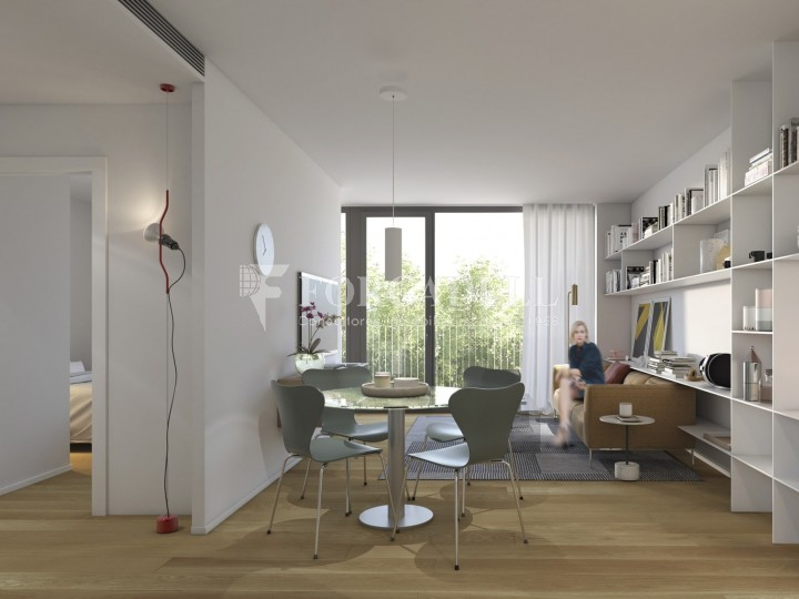 Promotion of new construction flats at Les Corts district in Barcelona. 4
