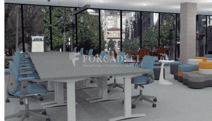 Oficina disponible en lloguer situada  al districte de les Corts de Barcelona. #3
