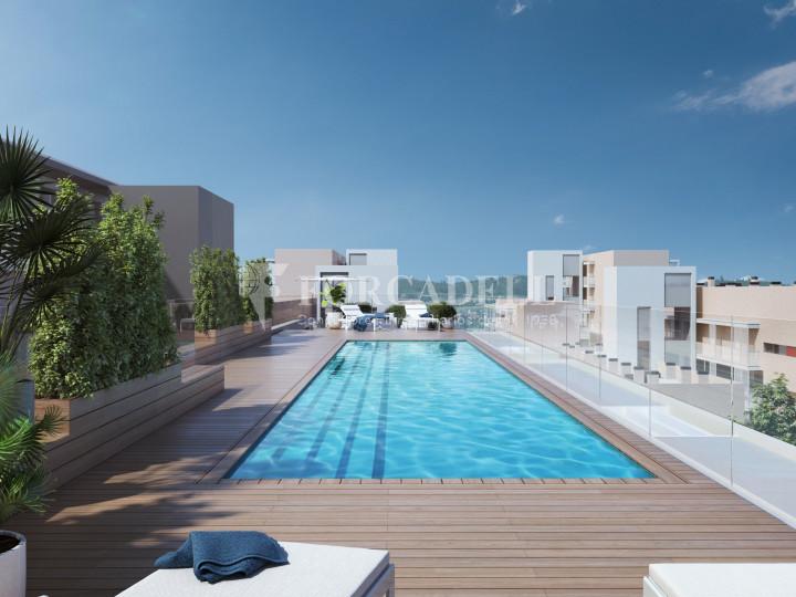 Pis de 61,23 m² més 10,27 m² de terrassa d'obra nova situat a la cinquena planta al centre de Sabadell 6