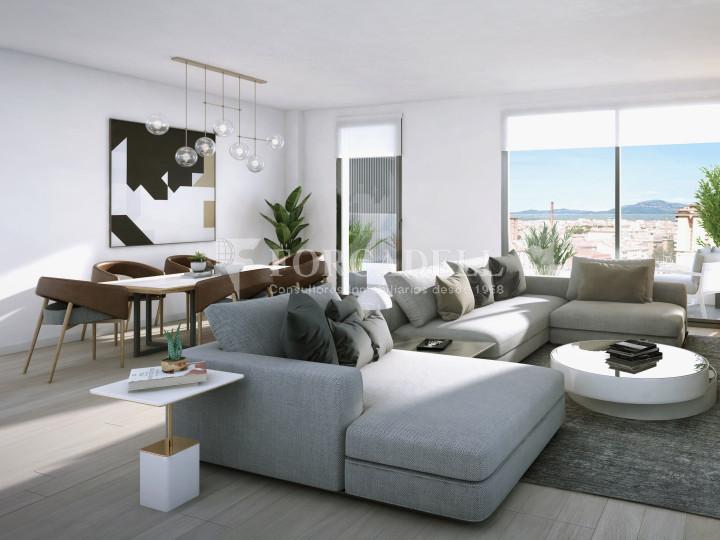 Pis de 61,23 m² més 10,27 m² de terrassa d'obra nova situat a la cinquena planta al centre de Sabadell 7