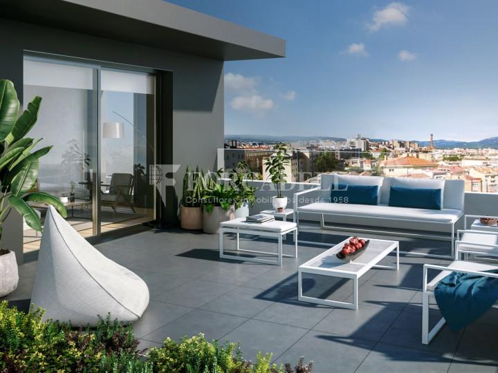 Pis de 61,23 m² més 10,27 m² de terrassa d'obra nova situat a la cinquena planta al centre de Sabadell 8