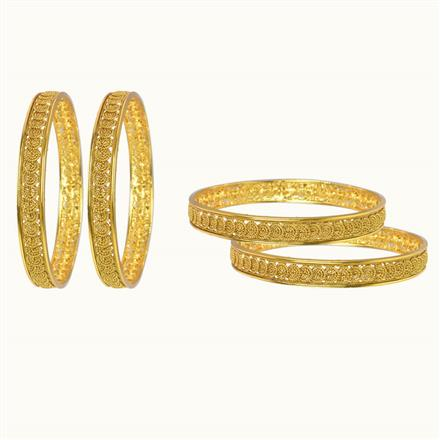 10004 Antique Plain Gold Bangles