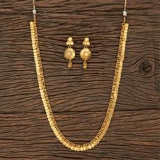 10006 Antique Plain Necklace With Gold Plating