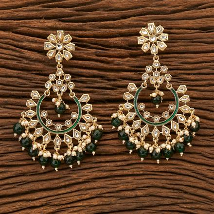100137 Indo Western Chand Earring with gold plating