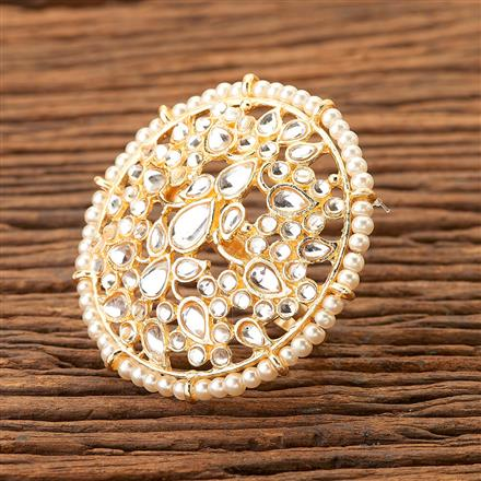 100138 Indo Western Classic Ring with gold plating