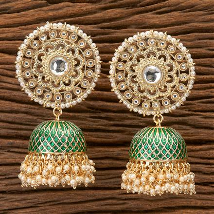 100256 Indo Western Jhumkis With Gold Plating
