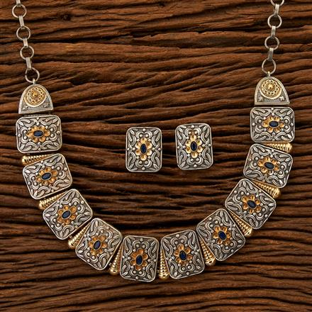 100265 Indo Western Classic Necklace with 2 Tone plating