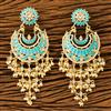 100273 Indo Western Chand Earring with gold plating
