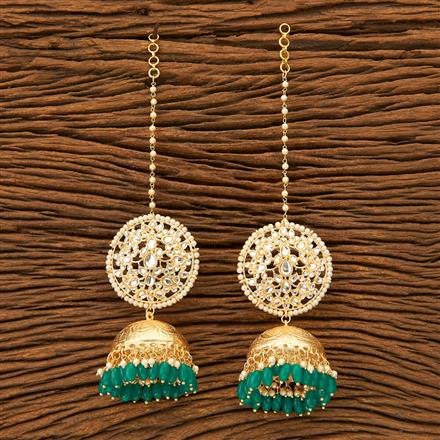 100275 Indo Western Jhumkis with gold plating