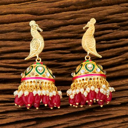 100276 Indo Western Jhumkis with gold plating