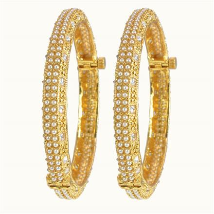 10027 Antique Openable Bangles with gold plating