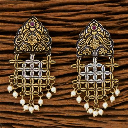 100284 Indo Western Classic Earring with 2 Tone plating