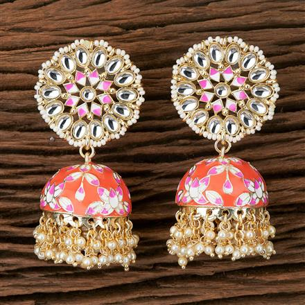 100295 Indo Western Jhumkis with Gold Plating