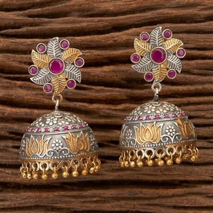 100305 Indo Western Jhumkis With 2 Tone Plating