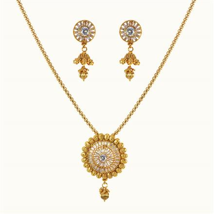 10034 Antique Classic Pendant Set with gold plating