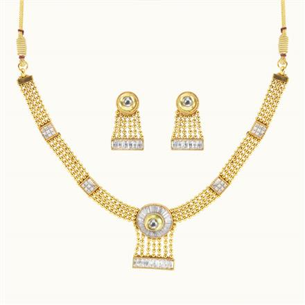 10043 Antique Delicate Necklace with gold plating