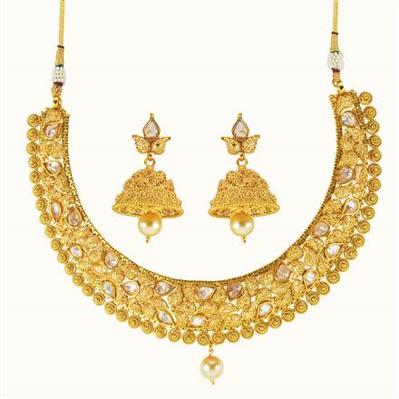 10045 Antique Classic Necklace with gold plating
