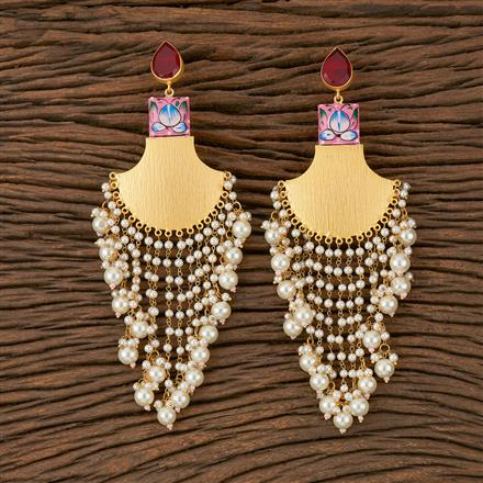 101301 Indo Western Trendy Earring with Gold Plating