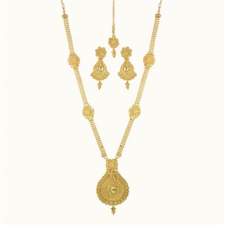10133 Antique Long Necklace with gold plating