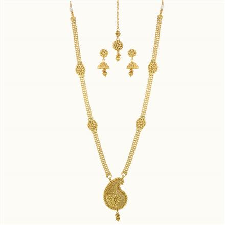10134 Antique Long Necklace with gold plating