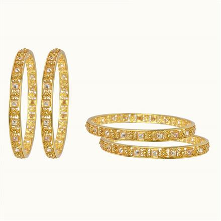 10135 Antique Classic Bangles with gold plating