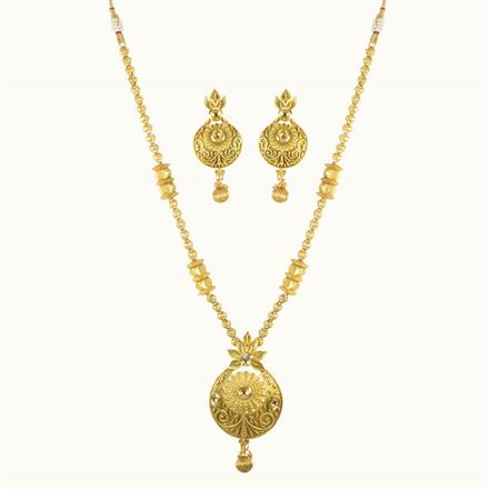 10145 Antique Mala Pendant Set with gold plating