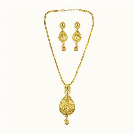 10147 Antique Classic Pendant Set with gold plating