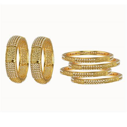10161 Antique Classic Bangles with gold plating