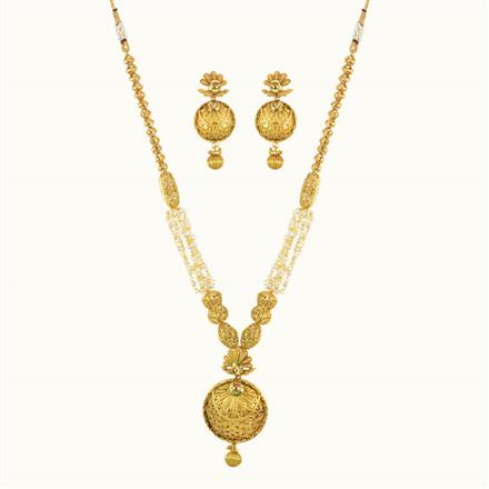 10172 Antique Mala Pendant Set with gold plating