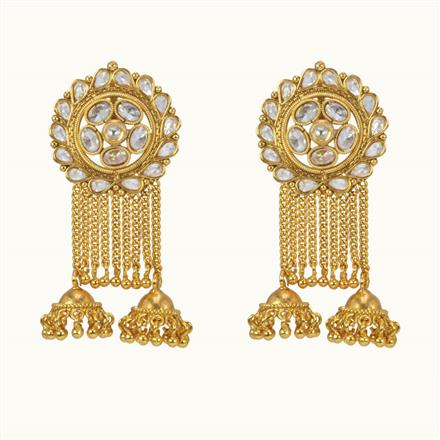 10179 Antique Jhumki with gold plating