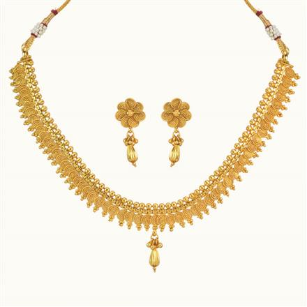 10183 Antique Delicate Necklace with gold plating