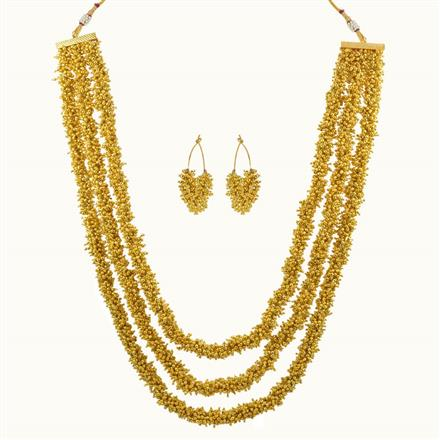 10197 Antique Mala Necklace with gold plating