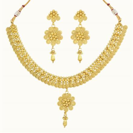 10201 Antique Plain Gold Necklace