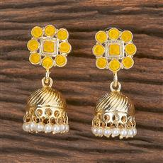 102033 Indo Western Jhumkis With Gold Plating