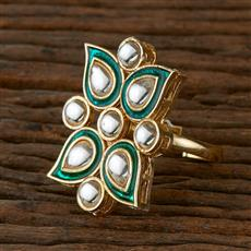 102129 Indo Western Classic Ring with Gold Plating