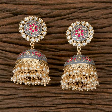 102143 Indo Western Jhumkis with Gold Plating
