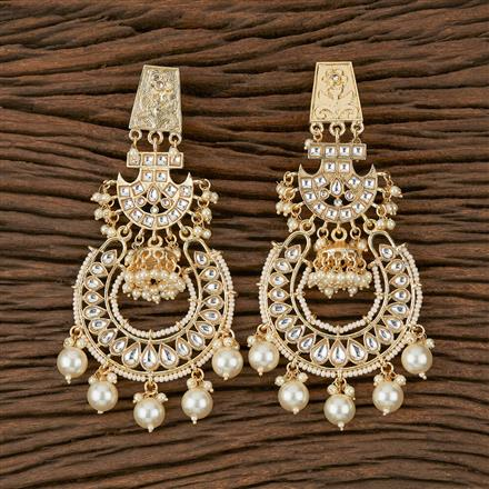 102145 Indo Western Chand Earring with Gold Plating