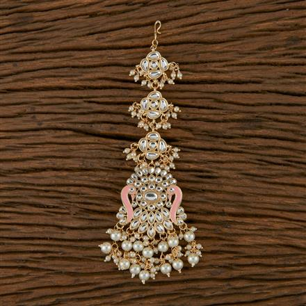 102152 Indo Western Trendy Tikka with Gold Plating
