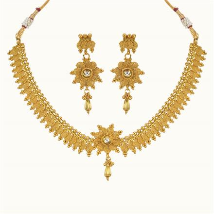 10215 Antique Delicate Necklace with gold plating