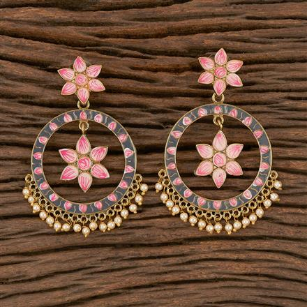 102166 Indo Western Trendy Earring with Mehndi Plating