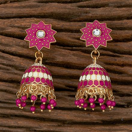 102185 Indo Western Jhumkis With Gold Plating