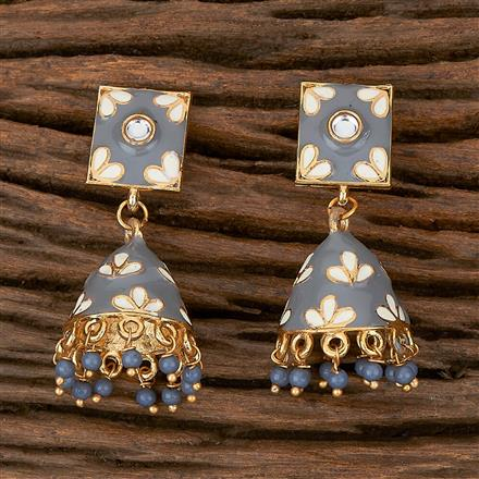 102189 Indo Western Jhumkis With Gold Plating