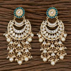 102201 Indo Western Chand Earring With Gold Plating