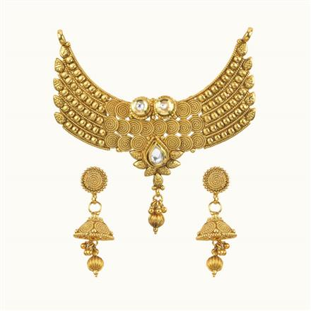 10220 Antique Plain Gold Mangalsutra